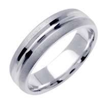 14K WHITE GOLD WEDDING BAND RING
